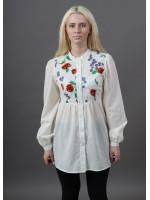 Блуза «Квітень» молочного кольору