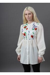 Блуза «Квітень» білого кольору