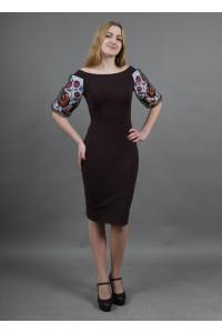 Сукня «Віолетта» шоколадного кольору