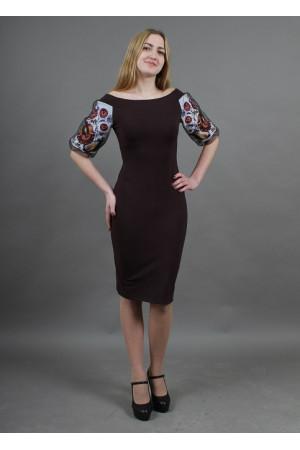Платье «Виолетта» шоколадного цвета