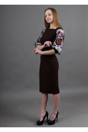 Платье «Виолета» шоколадного цвета
