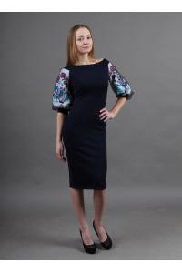 Платье «Виолетта» темно-синего цвета