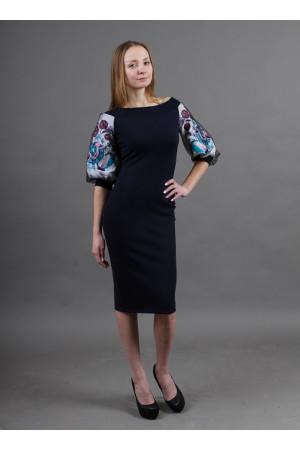 Платье «Виолета» темно-синего цвета