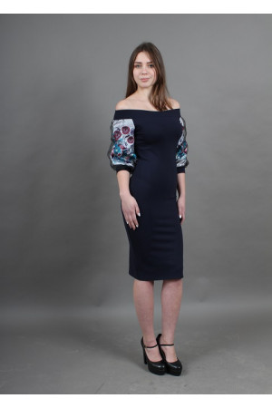 Сукня «Віолетта» темно-синього кольору