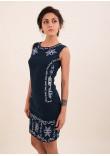 Сукня «Ефект» темно-синього кольору