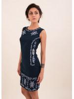 Платье «Эффект» темно-синего цвета