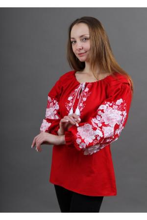Вышиванка «Сказка» красного цвета
