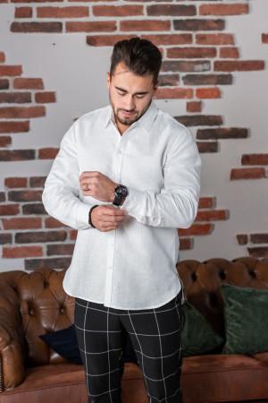 Мужская рубашка «Классическая» белого цвета