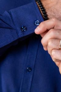 Чоловіча сорочка «Класична» темно-синього кольору