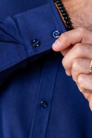 Мужская рубашка «Классическая» темно-синего цвета