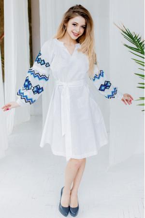 Сукня «Христина» білого кольору з синім