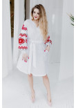 Сукня «Христина» білого кольору з червоним