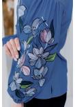 Вишиванка «Ліліана» кольору джинс