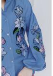 Вишиванка «Ліліана» блакитного кольору