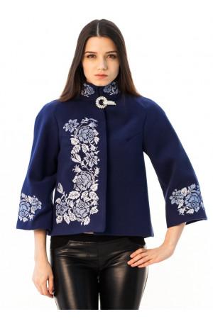 """Демісезонне пальто """"Дика ружа"""" синього кольору"""