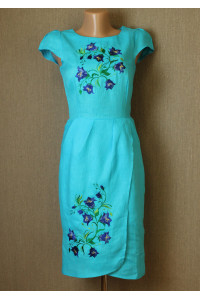 Платье «Звонкая» бирюзового цвета