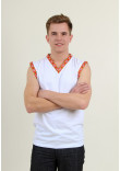 Футболка «Сокіл» з помаранчевим орнаментом