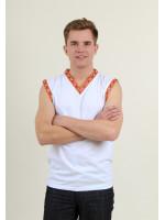 Футболка «Сокол» с оранжевым орнаментом