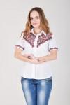 Блуза «Галичанка» біло-червона