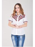 Вишиванка «Галичанка» біло-червона