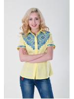 Вишиванка «Галичанка» жовто-блакитна
