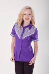 Блуза «Галичанка» фіолетово-біла