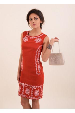 Платье «Эффект» красного цвета