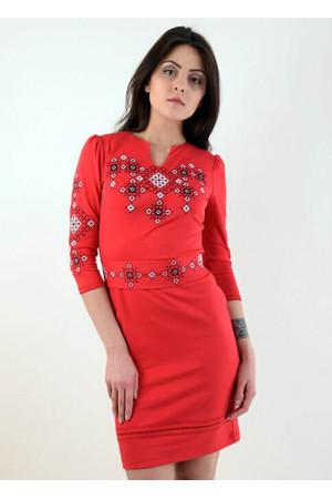 Сукня «Слов'яночка» червоного кольору