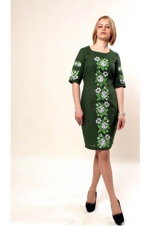 Платье «Пышная ружа» зеленого цвета