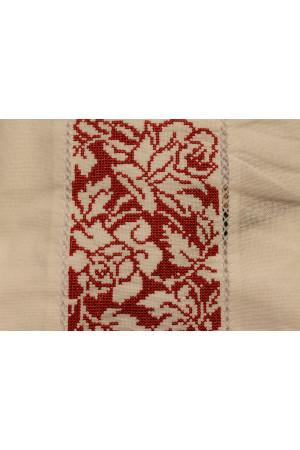 Вышиванка «Аура цветов» белая  с красным