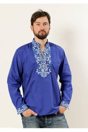 Вышиванка «Полковник» синего цвета