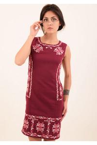 Платье «Эффект» бордового цвета