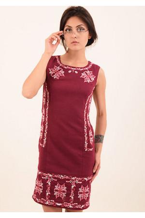 Сукня «Ефект» бордового кольору