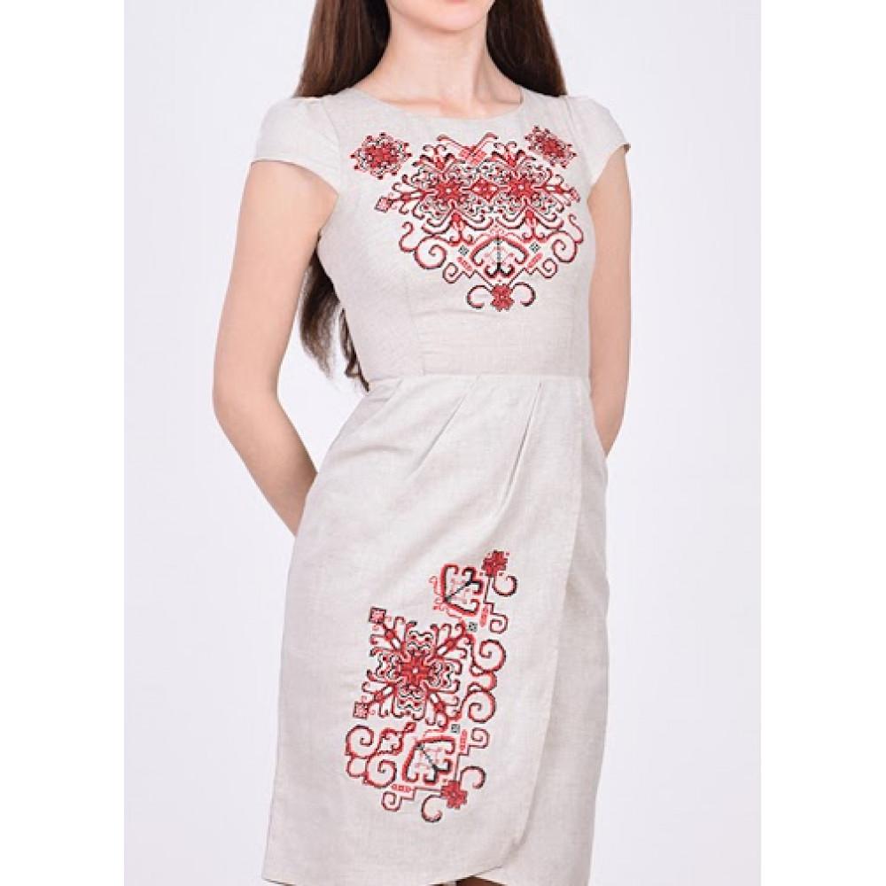 Сукня «Роксолана» світло-сірого кольору – з вишивкою 809128bebaf22