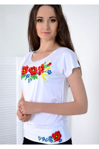 Футболка «Мелодія» білого кольору