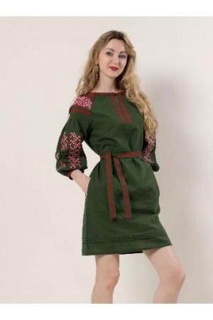 Сукня «Азалія» темно-зелена
