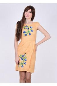 Платье «Звонкая» абрикосового цвета
