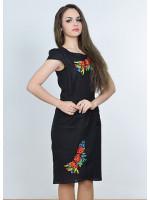 Сукня «Полісся» чорного кольору