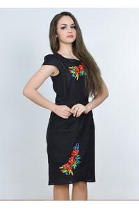 Платье «Полесье» черного цвета