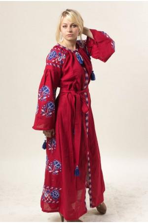 Платье «Парижская роза» вишневого цвета