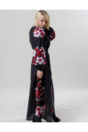 Сукня «Празький букет» чорного кольору