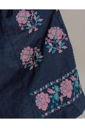 Сукня «Паризька троянда» темно-синього кольору