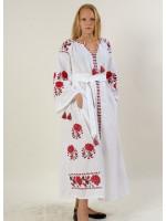 Платье «Парижская роза» белого цвета