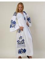 Платье «Парижский букет» белого цвета