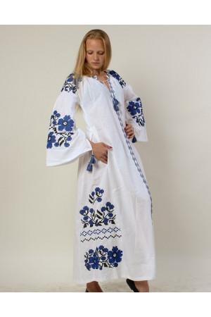 Платье «Пражский букет» белого цвета
