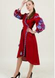 Сукня-халат «Дерево життя» бордового кольору