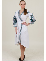Платье-халат «Дерево жизни» белого цвета