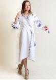 Сукня-халат «Ява» білого кольору