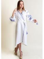 Платье-халат «Ява» белого цвета