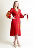 Сукня-халат «Ява» червоного кольору